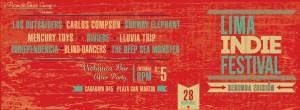 flyer segunda edición del lima indie festival